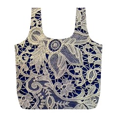 Point De Rose Full Print Recycle Bag (l) by Pakrebo