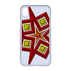 Pattern Tile Decorative Design Star Apple Iphone Xr Seamless Case (white)