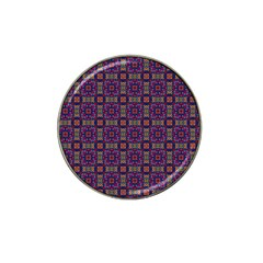 Tile Pattern Background Image Purple Hat Clip Ball Marker by Pakrebo