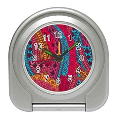 Fancy Colorful Mexico Inspired Pattern Travel Alarm Clock