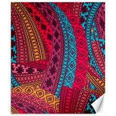 Fancy Colorful Mexico Inspired Pattern Canvas 8  X 10  by tarastyle