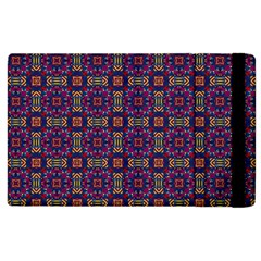 Tile Pattern Background Image Purple Apple Ipad 2 Flip Case by Pakrebo