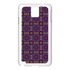Tile Pattern Background Image Purple Samsung Galaxy Note 3 N9005 Case (white)