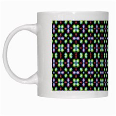 Background Image Pattern White Mugs