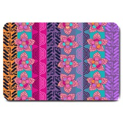 Fancy Colorful Mexico Inspired Pattern Large Doormat  by tarastyle