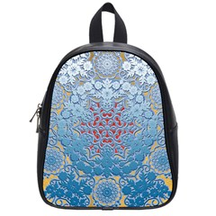 Pattern Background Pattern School Bag (small)