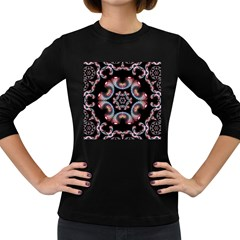 Ornament Kaleidoscope Women s Long Sleeve Dark T Shirt by Pakrebo