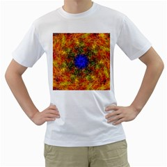 Background Image Tile Abstract Men s T Shirt (white) (two Sided)