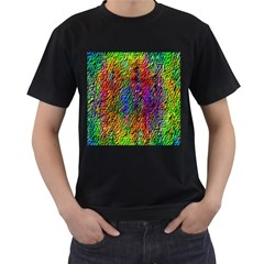 Background Image Ornament Men s T Shirt (black) (two Sided)