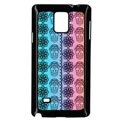 Fancy Colorful Mexico Inspired Pattern Samsung Galaxy Note 4 Case (black) by tarastyle