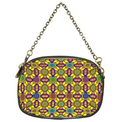 Background Image Geometric Chain Purse (one Side)