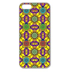Background Image Geometric Apple Seamless Iphone 5 Case (clear)