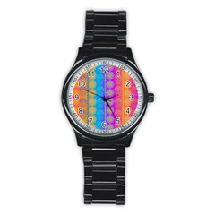Fancy Colorful Mexico Inspired Pattern Stainless Steel Round Watch by tarastyle