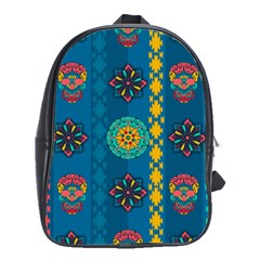 Fancy Colorful Mexico Inspired Pattern School Bag (large) by tarastyle