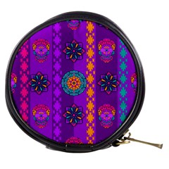 Fancy Colorful Mexico Inspired Pattern Mini Makeup Bag by tarastyle