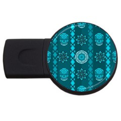 Fancy Colorful Mexico Inspired Pattern Usb Flash Drive Round (2 Gb) by tarastyle