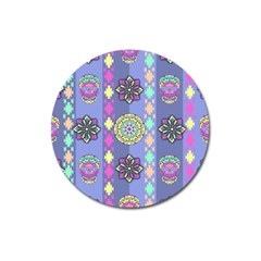 Fancy Colorful Mexico Inspired Pattern Magnet 3  (round) by tarastyle