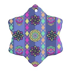 Fancy Colorful Mexico Inspired Pattern Ornament (snowflake)