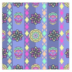 Fancy Colorful Mexico Inspired Pattern Large Satin Scarf (square) by tarastyle