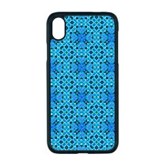Background Image Tile Pattern Blue Apple Iphone Xr Seamless Case (black)