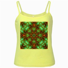 Fractal Background Colorful Graphic Yellow Spaghetti Tank by Pakrebo
