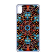 Fractal Background Colorful Graphic Apple Iphone Xr Seamless Case (white)