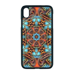 Fractal Background Colorful Graphic Apple Iphone Xr Seamless Case (black)