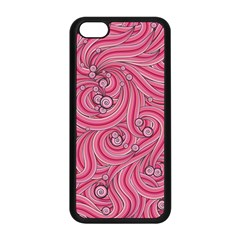 Pattern Doodle Design Drawing Apple Iphone 5c Seamless Case (black)