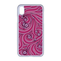 Pattern Doodle Design Drawing Apple Iphone Xr Seamless Case (white)