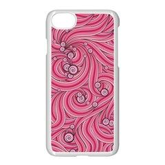 Pattern Doodle Design Drawing Apple Iphone 8 Seamless Case (white)