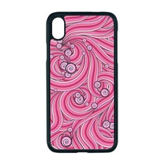 Pattern Doodle Design Drawing Apple Iphone Xr Seamless Case (black)