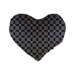 Ornaments  Kaleidoscope Pattern Standard 16  Premium Flano Heart Shape Cushions by Pakrebo