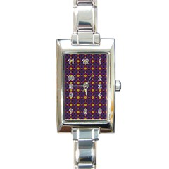 Background Image Ornament Rectangle Italian Charm Watch by Pakrebo