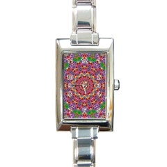 Background Image Decorative Rectangle Italian Charm Watch by Pakrebo
