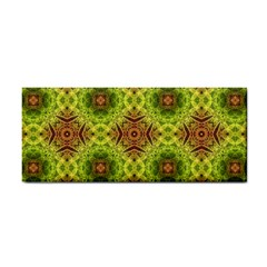 Tile Background Image Pattern Green Hand Towel by Pakrebo