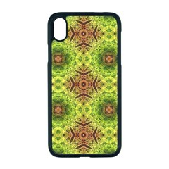 Tile Background Image Pattern Green Apple Iphone Xr Seamless Case (black)