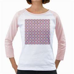 Background Image Tile Geometric Girly Raglan