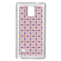 Background Image Tile Geometric Samsung Galaxy Note 4 Case (white)
