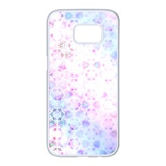 Digital Art Artwork Abstract Pink Purple Samsung Galaxy S7 Edge White Seamless Case