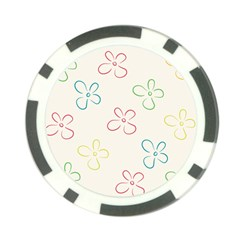 Flower Background Nature Floral Poker Chip Card Guard by Mariart