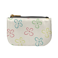 Flower Background Nature Floral Mini Coin Purse