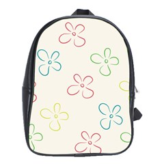 Flower Background Nature Floral School Bag (xl)