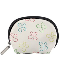 Flower Background Nature Floral Accessory Pouch (small) by Mariart