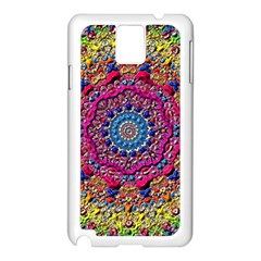 Background Fractals Surreal Design 3d Samsung Galaxy Note 3 N9005 Case (white) by Pakrebo