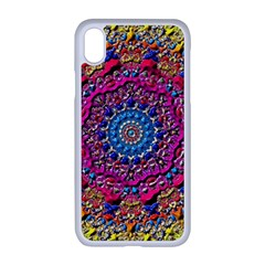 Background Fractals Surreal Design 3d Apple Iphone Xr Seamless Case (white)