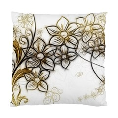 Curlicue Kringel Flowers Background Standard Cushion Case (one Side) by AnjaniArt