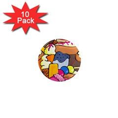 Sweet Dessert Food Muffin Cake 1  Mini Magnet (10 Pack)  by Alisyart