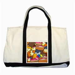 Sweet Dessert Food Muffin Cake Two Tone Tote Bag