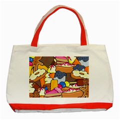 Sweet Dessert Food Muffin Cake Classic Tote Bag (red) by Alisyart