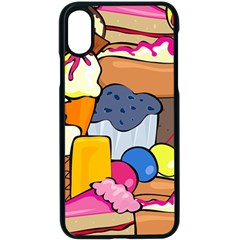 Sweet Dessert Food Muffin Cake Apple Iphone Xs Seamless Case (black)